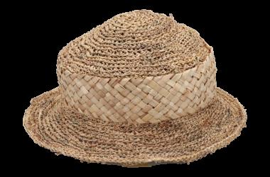 菅編み帽子